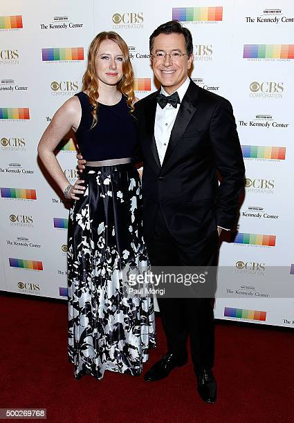 Talk show host Stephen Colbert and his daughter Madeline attend the 38th Annual Kennedy Center Honors Gala at John F Kennedy Center for the...