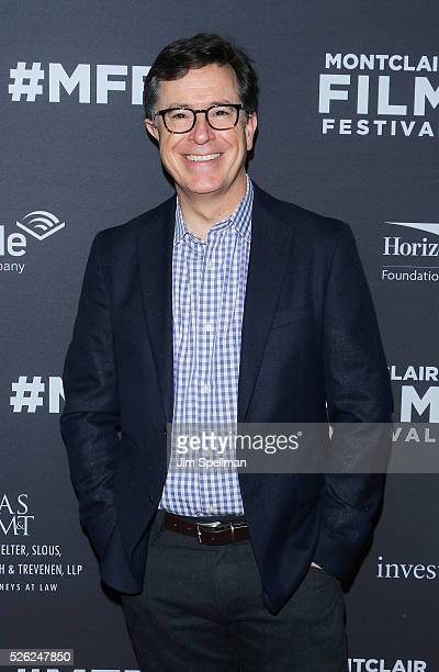 """Talk show host Stephen Colbert attend the """"Life, Animated"""" opening night screening and Q&A during the 5th Annual Montclair Film Festival at The..."""