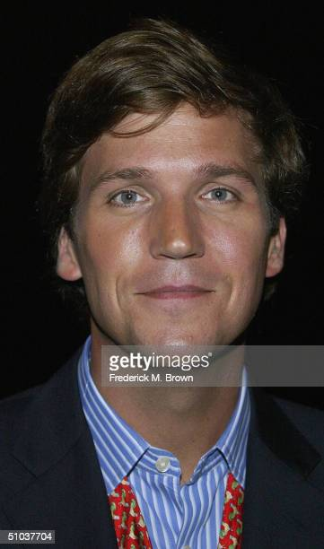 Talk show host Tucker Carlson attends the Television Critics Association Press Tour at the Westin Century Plaza Hotel on July 8 2004 in Century City...