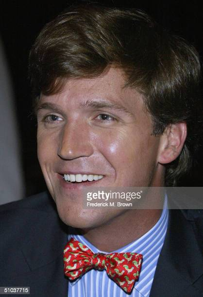 Talk show host Tucker Carlson attends the Television Critics Association Press Tour at the Westin Century Plaza Hotel on July 8, 2004 in Century...