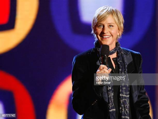 Talk show host/comedian Ellen DeGeneres performs at a taping of ''Ellen's Even Bigger Really Big Show'' during The Comedy Festival at The Colosseum...
