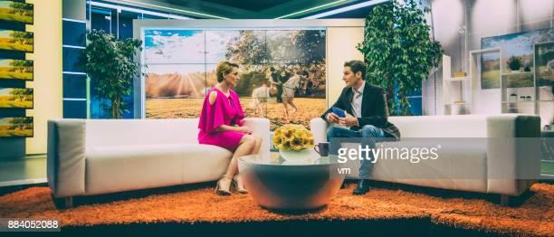 Talk show interview