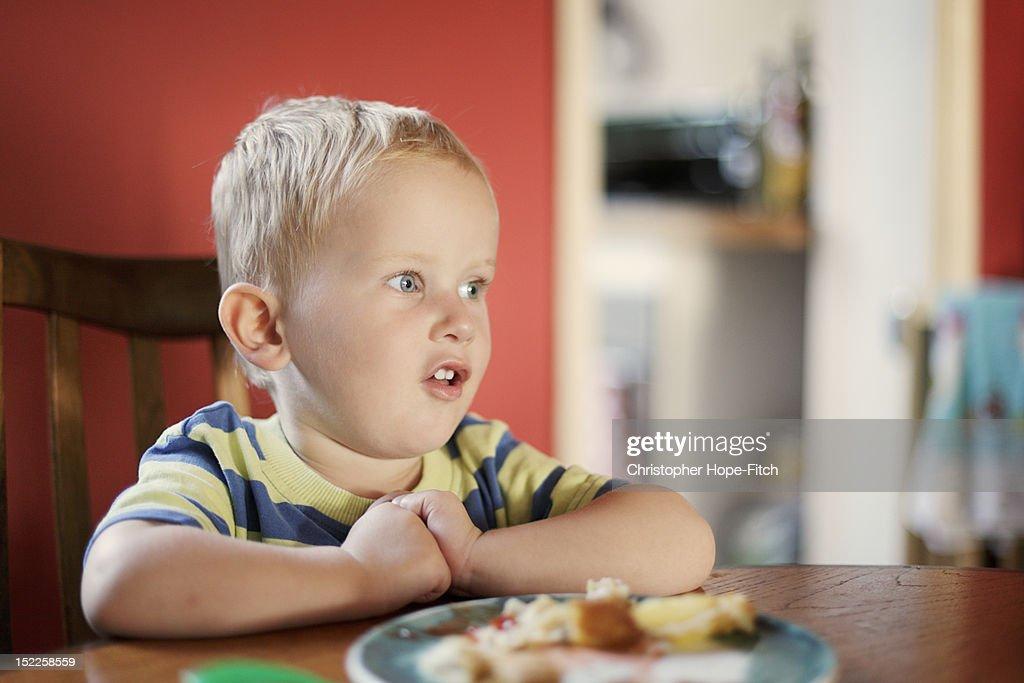 Talkative boy : Stock Photo