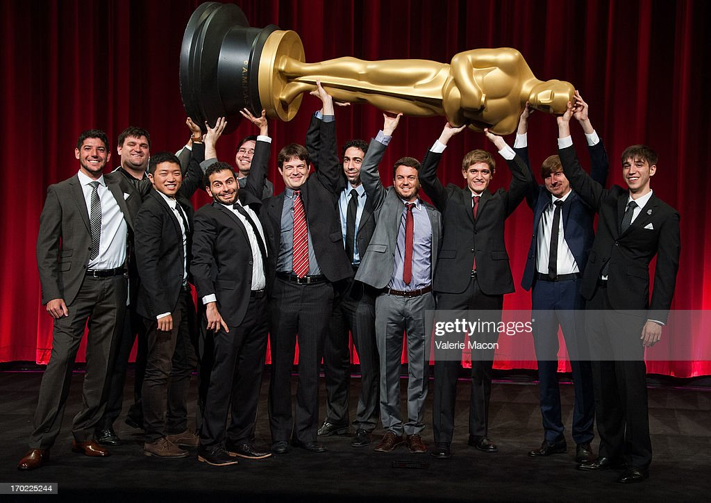 Talkhon Hamzavi, Brian Schwarz, David Aristizabal, Eusong Lee, Lindsey St. Pierre, Ashley Graham, Kristina Yee and Rachel Loube, John Mattiuzzi, Kevin Herron, Jonathan Langager, Perry Janes, Mauro Mueller, Wouter Bouvijn and Rafael Cortina and Daniel Koehler attend The Academy Of Motion Picture Arts And Sciences' 40th Annual Student Academy Awards Ceremony at AMPAS Samuel Goldwyn Theater on June 8, 2013 in Beverly Hills, California.