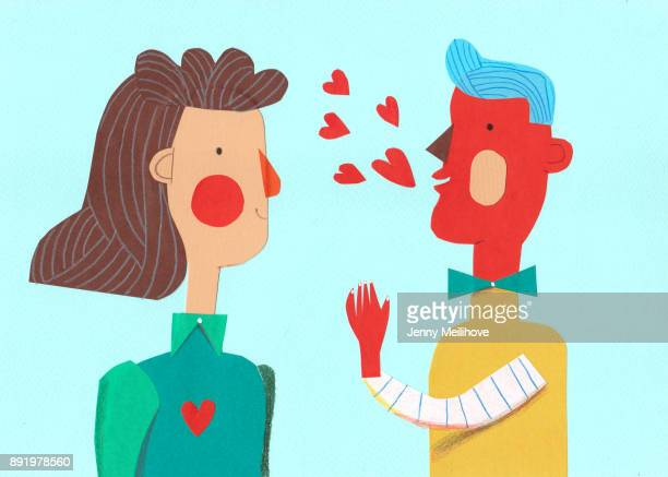 talking about love - illustration stock pictures, royalty-free photos & images
