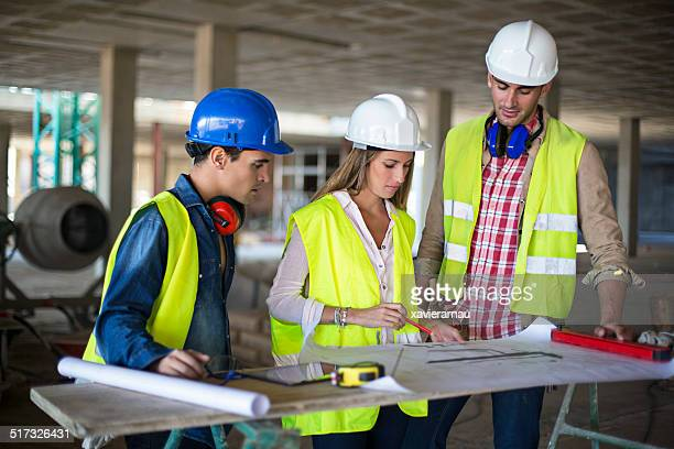 Talking about the construction work