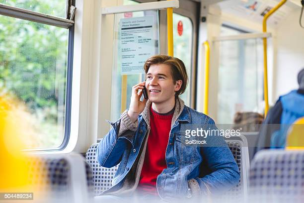 Talking on the Phone on the Train