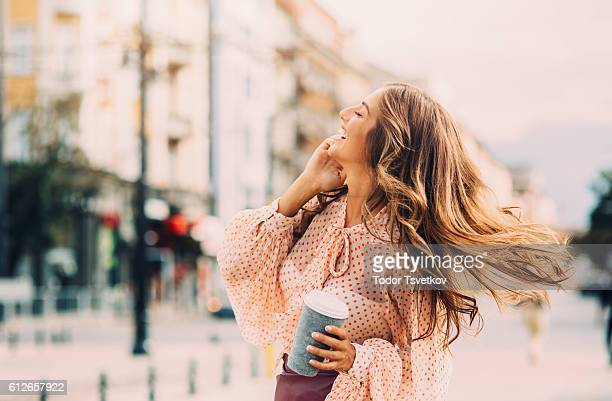 talking on the phone - long hair stock pictures, royalty-free photos & images
