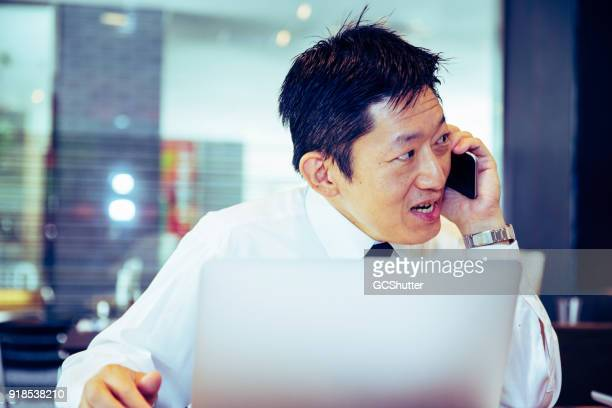 トーキング電話中、クライアント