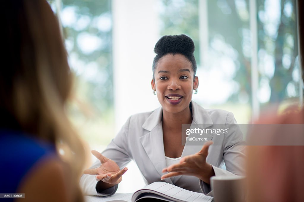 Talking to New Employees : Stock Photo