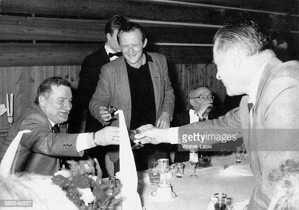 Talks between 'Solidarity' and the government in Magdalenka near Warsaw on 16th September 1988 Pictured 'Solidarity' trade union leader Lech Walesa...
