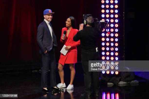 NICO talks with Autumn Johnson during the NBA 2K League Draft on February 22 2020 at Terminal 5 in New York New York NOTE TO USER User expressly...