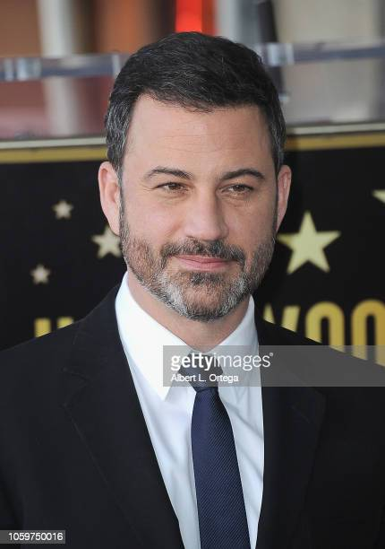 Talkshow Host Jimmy Kimmell attends a ceremony unveiling Sarah Silverman's Star on the Hollywood Walk Of Fame on November 9 2018 in Hollywood...