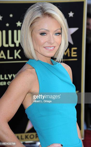 Talkshow host Kelly Ripa honored with the Star on The Hollywood Walk of Fame on October 12 2015 in Hollywood California