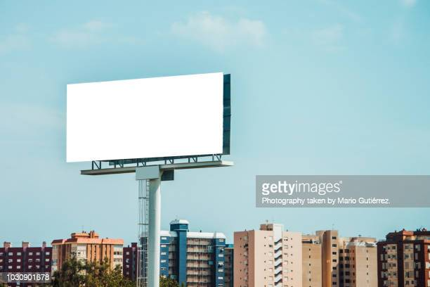 tall billboard at city - announcement message stock pictures, royalty-free photos & images