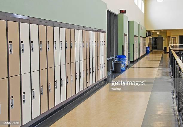 トールブラウンロッカーズを、オープン学校の廊下
