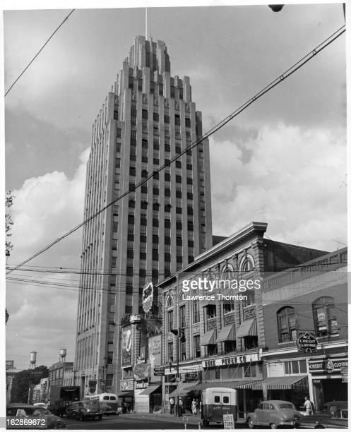 Tall Building along a street in Winston-Salem, North Carolina, 1955.