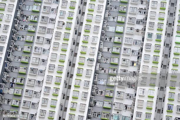Tall common Hong Kong apartment building