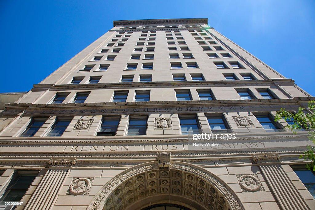 Tall historic office building, Trenton, NJ : Stock Photo