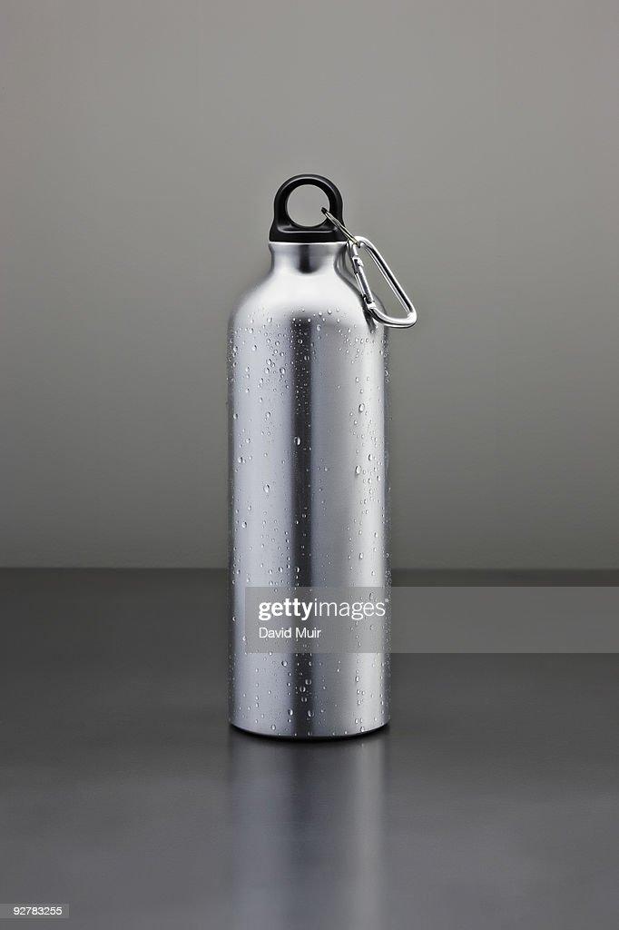 tall metal water bottle : ストックフォト