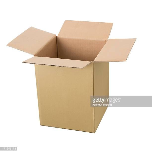 Tall Open Cardbox Box - Isolated