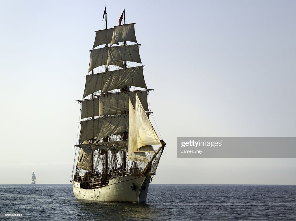 Tall Ship At Sail on Sunny Morning : Stock Photo