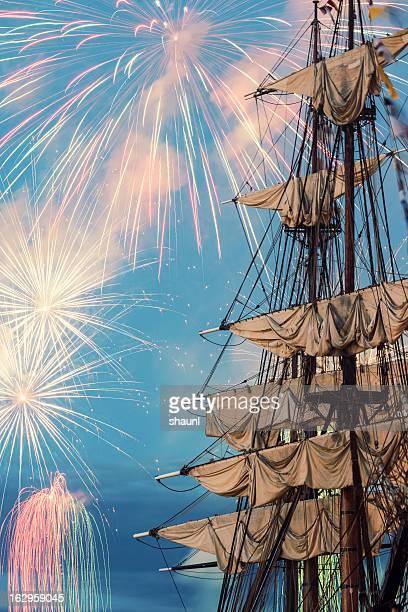 帆船の花火