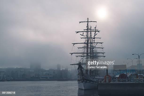 Tall Ship in A Coruña Harbour