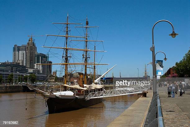 Tall ship in the sea, Corbeta Uruguay, Puerto Madero, Buenos Aires, Argentina