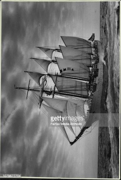 Tall ships arrive in Sydney HarbourThe Juan Sebastian De Elcano from Spain arrives in Sydney Harbour January 19 1988