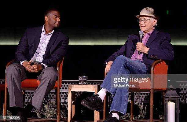 Tallahassee Mayor Andrew Gillum and producer Norman Lear attend TOMS Rock The Vote And Bad Robot Host 'VOTE2016' Conversation Regarding 2016 Election...