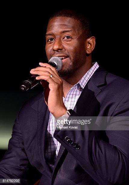 Tallahassee Mayor Andrew Gillum attends TOMS Rock The Vote And Bad Robot Host 'VOTE2016' Conversation Regarding 2016 Election at Bad Robot on March...