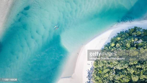 tallebudgera creek aerials (gold coast) - idyllic stock-fotos und bilder