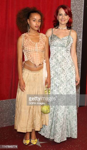 Tallia and Carrie Grant arrive on the red carpet during The British Soap Awards 2019 at The Lowry, Media City, Salford in Manchester.