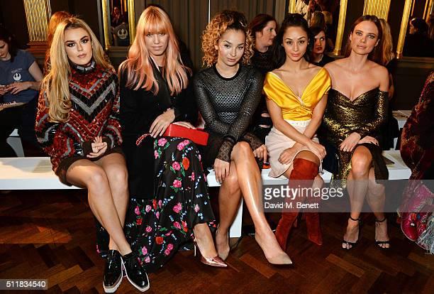 Tallia Storm Amber Le Bon Ella Eyre Cara Santana and Alicia Rountree attend the Emilio de la Morena show during London Fashion Week Autumn/Winter...