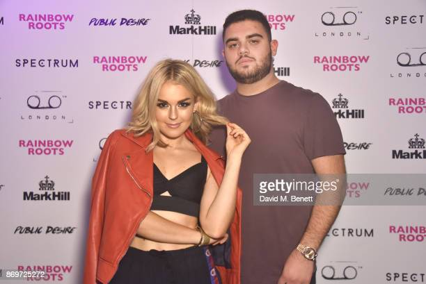 Tallia Storm and Anthony Ishak arrive at Lottie Tomlinson's 'Rainbow Roots' book launch at Tape London on November 2 2017 in London England