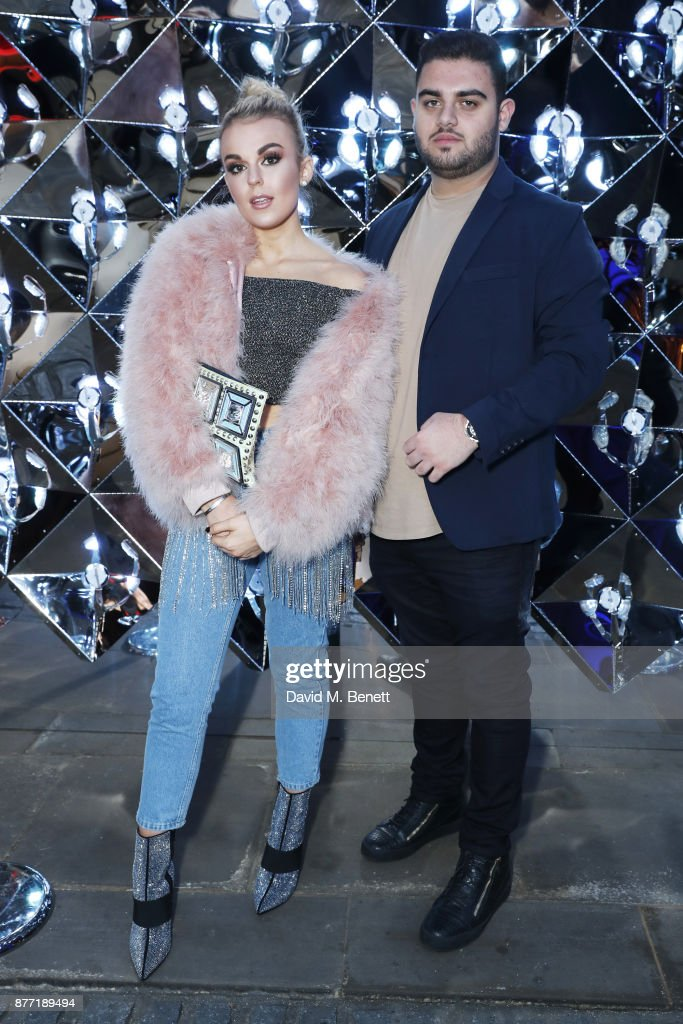 Tallia Storm (L) and Anthony Ishak attend a Christmas Party at Rosewood London to celebrate the launch of Rosewood Mini Wishes, in aid of Great Ormond Street Hospital Children's Charity (GOSH) at Rosewood Hotel on November 21, 2017 in London, England.