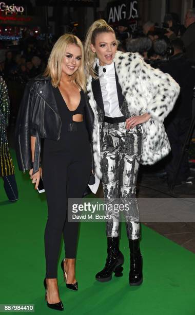 Tallia Storm and Becca Dudley attend the UK Premiere of 'Jumanji Welcome To The Jungle' at Vue West End on December 7 2017 in London England
