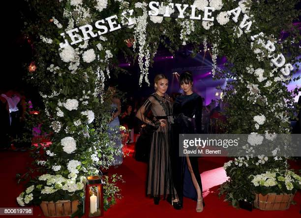 Tallia Storm and Betty Bachz attend the Jersey Style Awards 2017 in association with Chopard at The Royal Jersey Showground on June 24 2017 in...