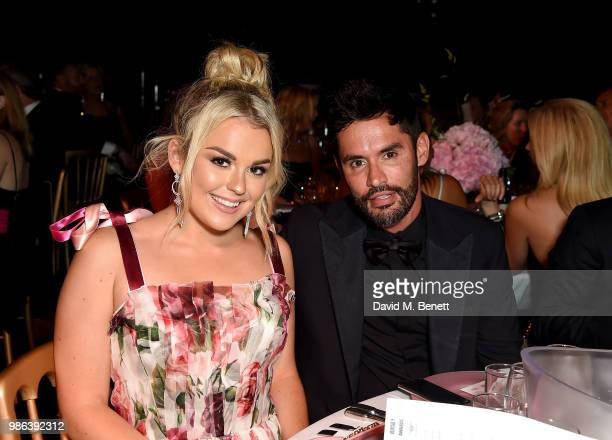 Tallia Storm and Jean Bernard Fernandez Versini attend the 2nd annual Jersey Style Awards in association with Bentley Motors Chopard and Ortac...