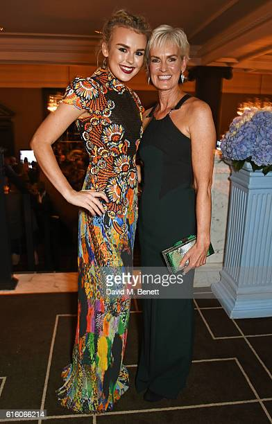 Tallia Storm and Judy Murray attend the Scottish Fashion Awards in association with Maserati at Rosewood Hotel on October 21 2016 in London England