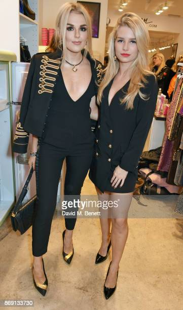 Tallia Storm and Lottie Moss attend Nasty Gal UK Pop Up Launch Party on Carnaby Street on November 1 2017 in London England