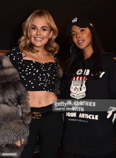 Tallia Storm and Maya Jama attend the Grand Opening of the Cadbury Creme Egg Camp on January 18 2018 in London England