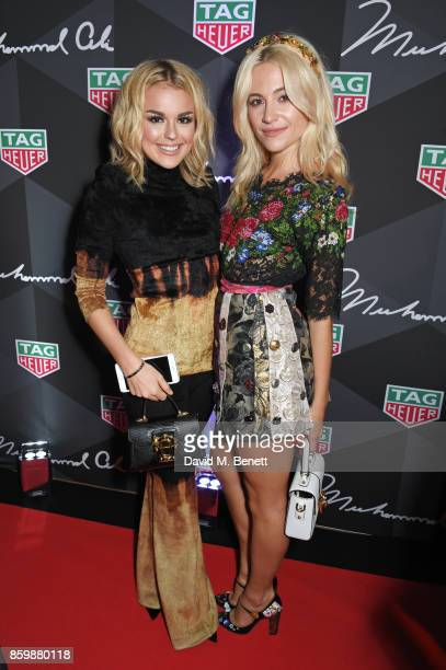 Tallia Storm and Pixie Lott attend the launch of the TAG Heuer Muhammad Ali Limited Edition Timepieces at BXR Gym on October 10 2017 in London England