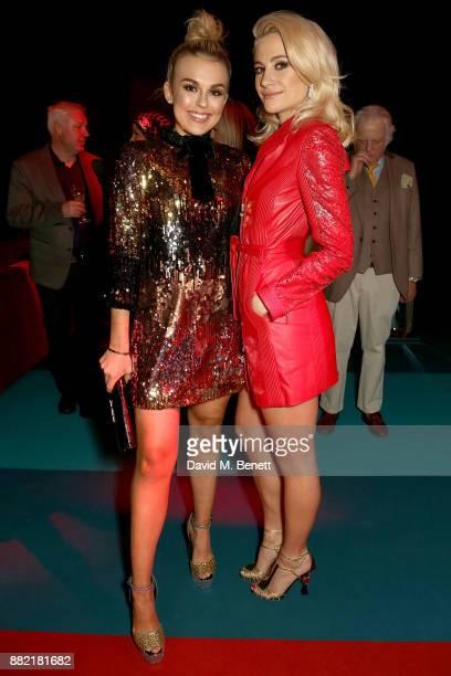 Tallia Storm and Pixie Lott attend the UK launch of the Ferrari Portofino at Kensington Olympia on November 29 2017 in London England