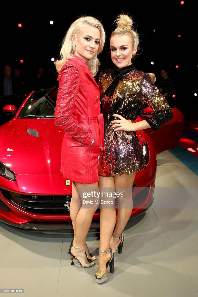 Tallia Storm and Pixie Lott attend the UK launch of the Ferrari Portofino at Kensington Olympia on November 29, 2017 in London, England.