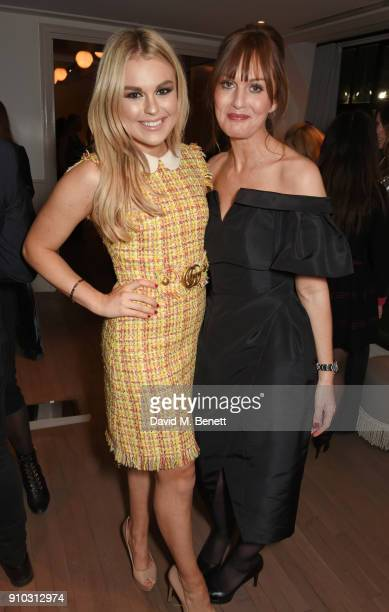 Tallia Storm and Teresa Tarmey attend the launch of Teresa Tarmey's new 'at home facial system' at Mortimer House sponsored by CIROC on January 25...