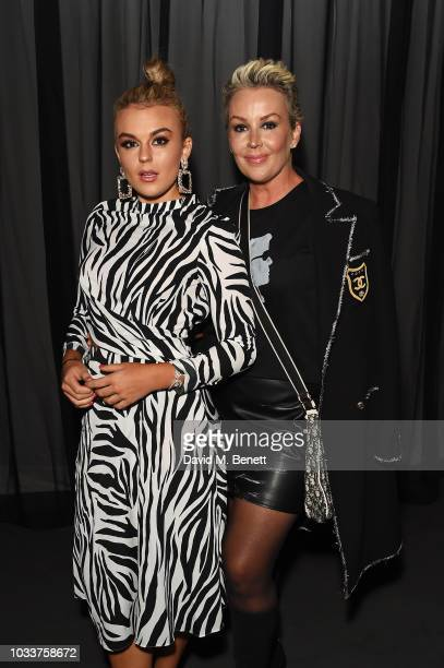Tallia Storm and Tessa Hartmann attend the Mary Katrantzou front row during London Fashion Week September 2018 on September 15 2018 at The Roundhouse...