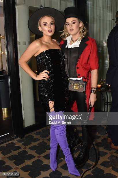 Tallia Storm and Tessie Hartmann attend Dali's Dream Halloween party hosted by Velocity Black and The Mandrake Hotel on October 27 2017 in London...