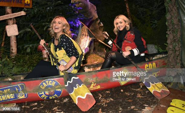 Tallia Storm and Tessie Hartmann attend the Grand Opening of the Cadbury Creme Egg Camp on January 18 2018 in London England
